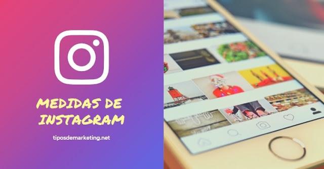medidas de instagram