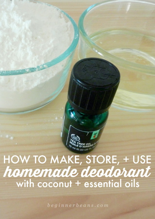How to make, store, and use homemade essential oil deodorant.