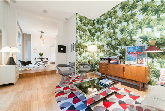 papel de parede, sala, living, decoração, decor, wallpaper