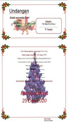Undangan Natal 2020 format Microsoft Word