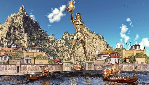El coloso de Rodas. Las 7 maravillas del Mundo Antiguo