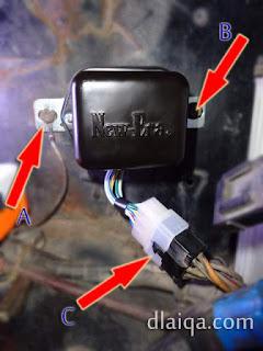 pasang voltage regulator yang baru