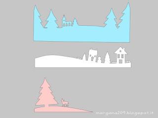 modello villaggio di carta innevato