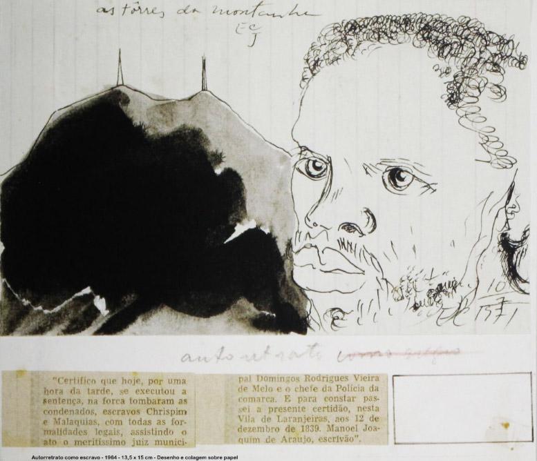 """""""Autorretrato"""" (1964) de Carlos Jardim.  Imagem: acervo Associação Profissional de Artistas Plásticos de São Paulo"""