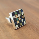 DIY Glass Bead Mosaic Ring