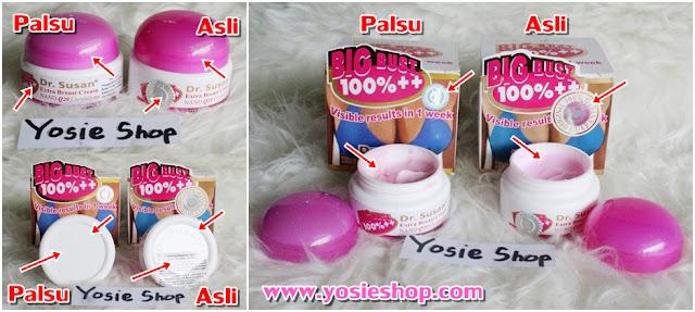 Perbedaan Krim Dr Susan Original Embost dan Kw China Palsu - Cream Pembesar Payudara 100% Asli