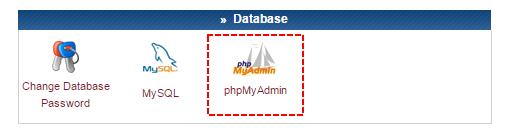 Painel de Controle - phpMyAdmin