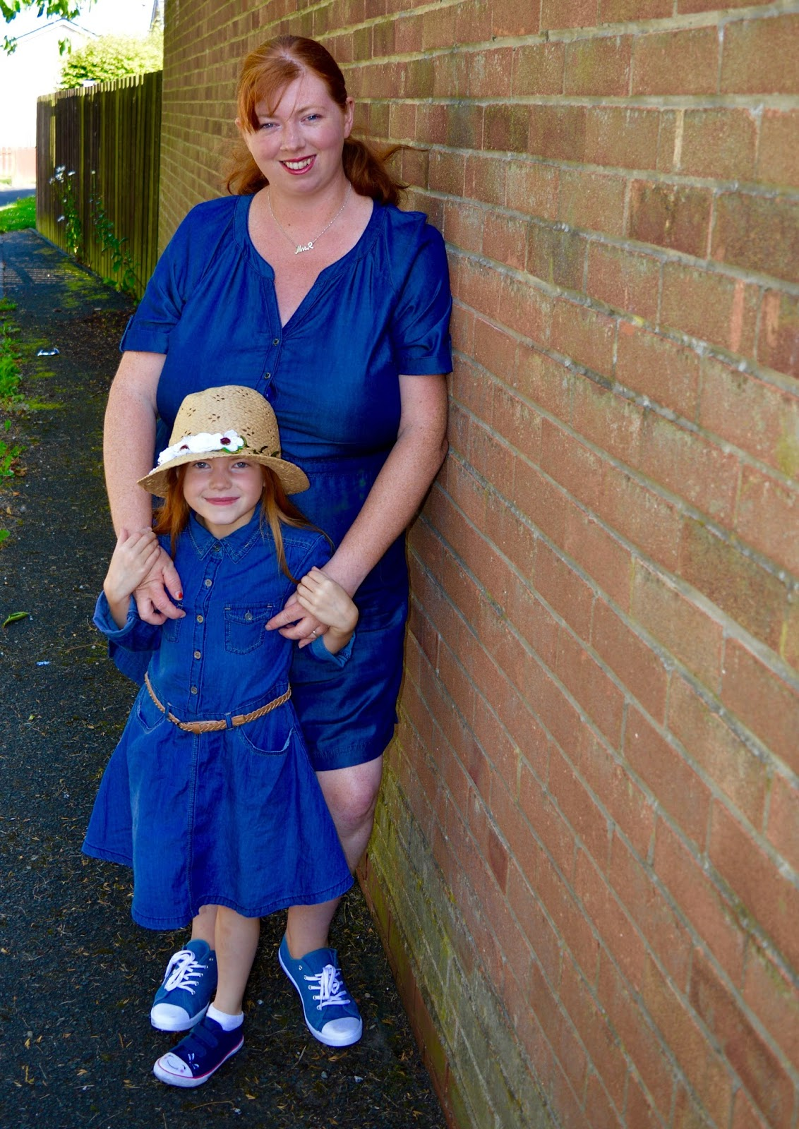 Matching mum & daughter Denim dress outfits from George at Asda as part of #GeorgeMiniMe