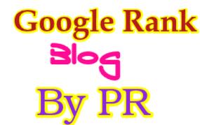 Google Ranking Websites OR Blog By PR