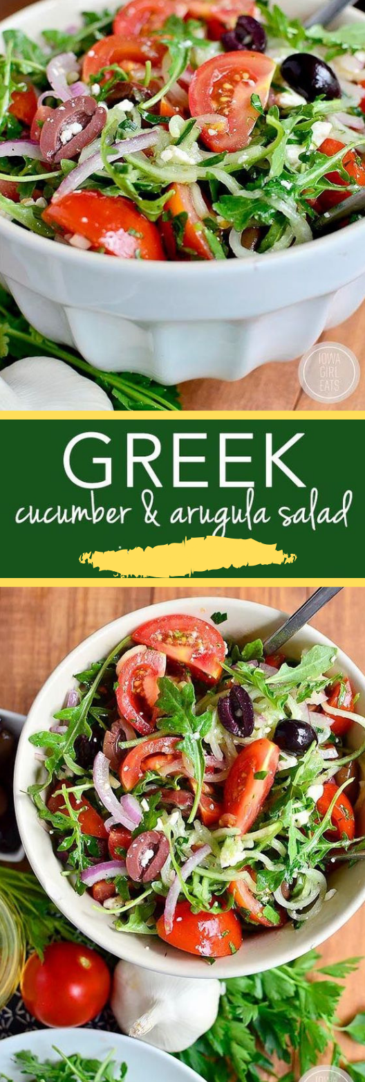 Greek Cucumber and Arugula Salad #diet #cucumber