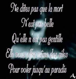 poème sur la mort