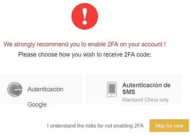 2FA seguridad cuenta binance comprar Status SNT