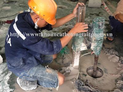 Khoan cắt bê tông tại huyện Đầm Dơi