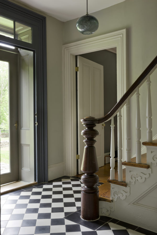 image result for timeless Belgian minimal entry and staircase in country house in Virginia