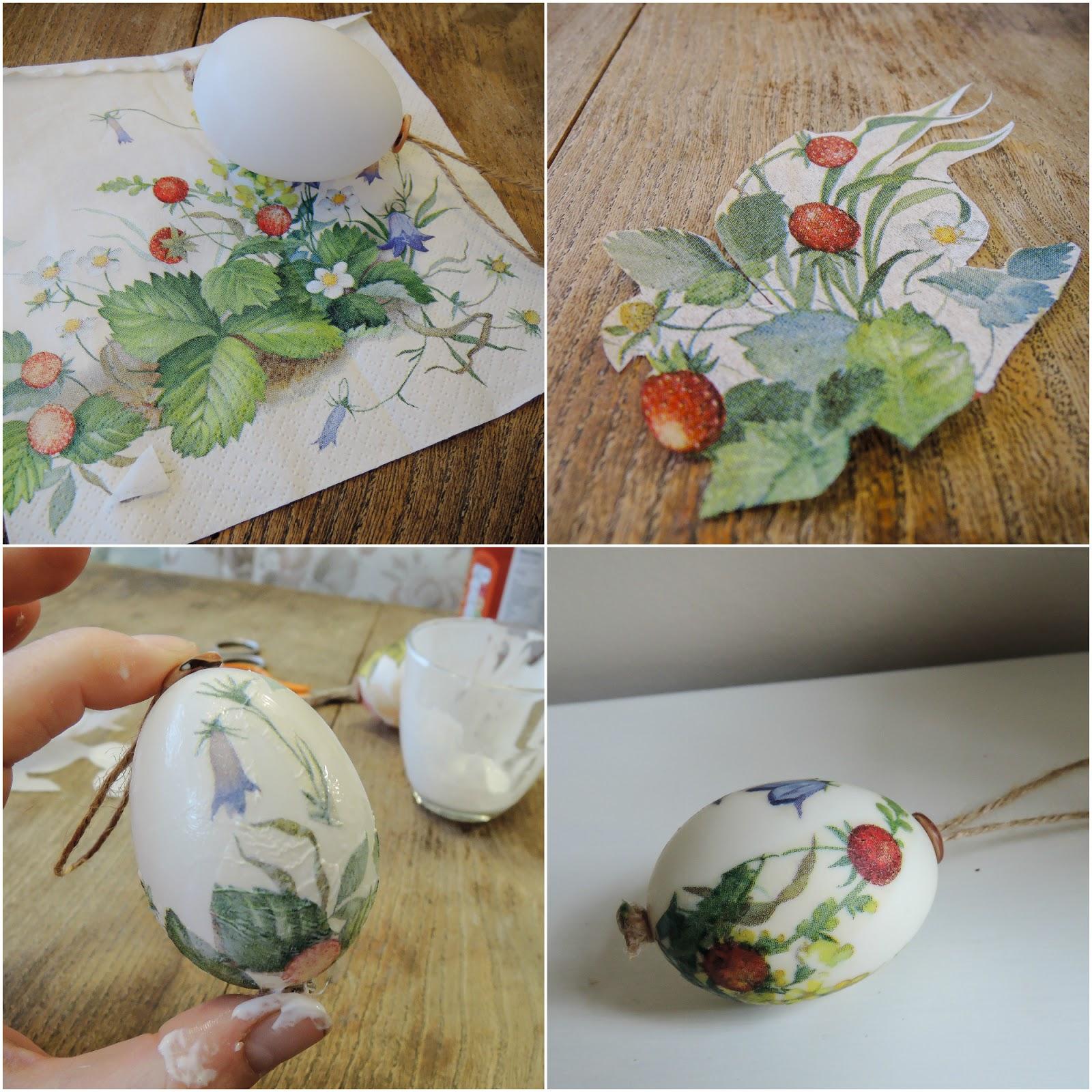 A handmade cottage decoupaged easter egg tree decorations - Easter egg tree decorations ...