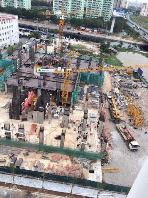 Toàn cảnh công trường xây dựng dự án Tứ Hiệp Plaza