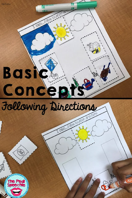 speech therapy basic concepts bundle: fall, winter, spring and summer basic concepts