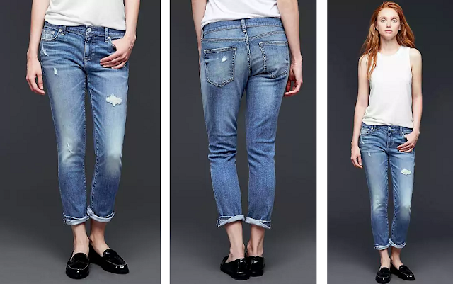 Gap Mid Rise Destructed Best Girlfriend Jeans for only $30 (reg $80)