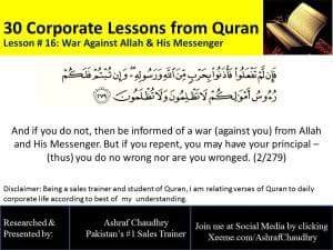 War Against ALLAH and His Messenger