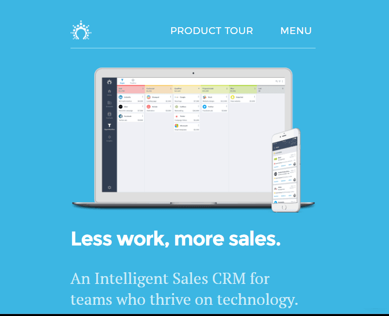 Salesflare helps you work less and make more sales
