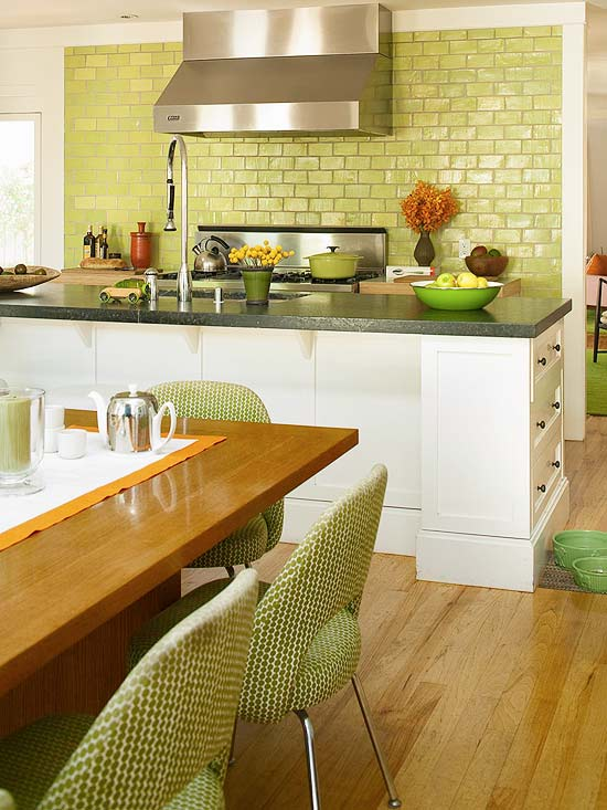 White Green Kitchen Ideas Modern Furniture: Green Kitchen Design New Ideas 2012