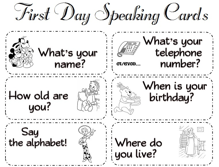 My First Day In School Class  Free First Day Of School Printables