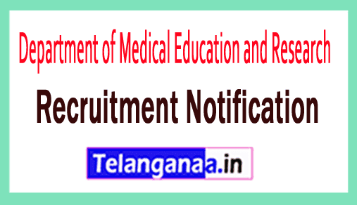 Department of Medical Education and Research DMER Recruitment