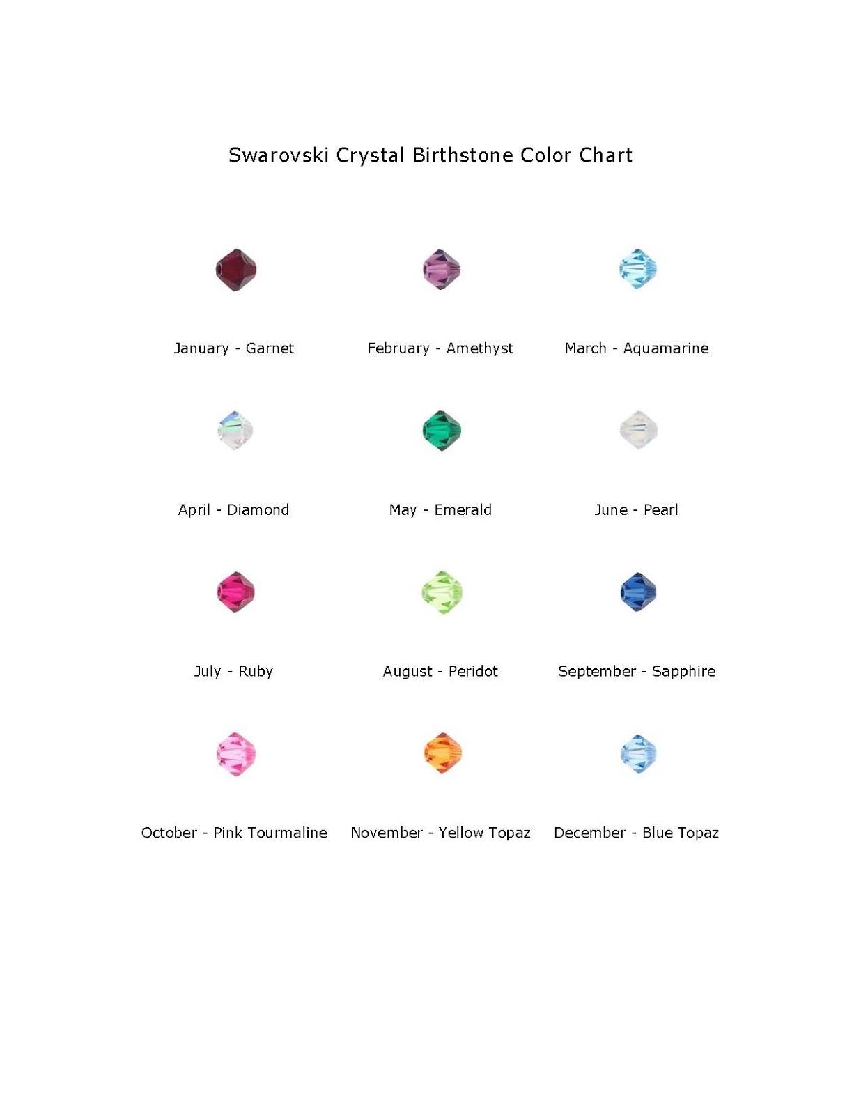 Find Your Swarovski Birthstone Colors