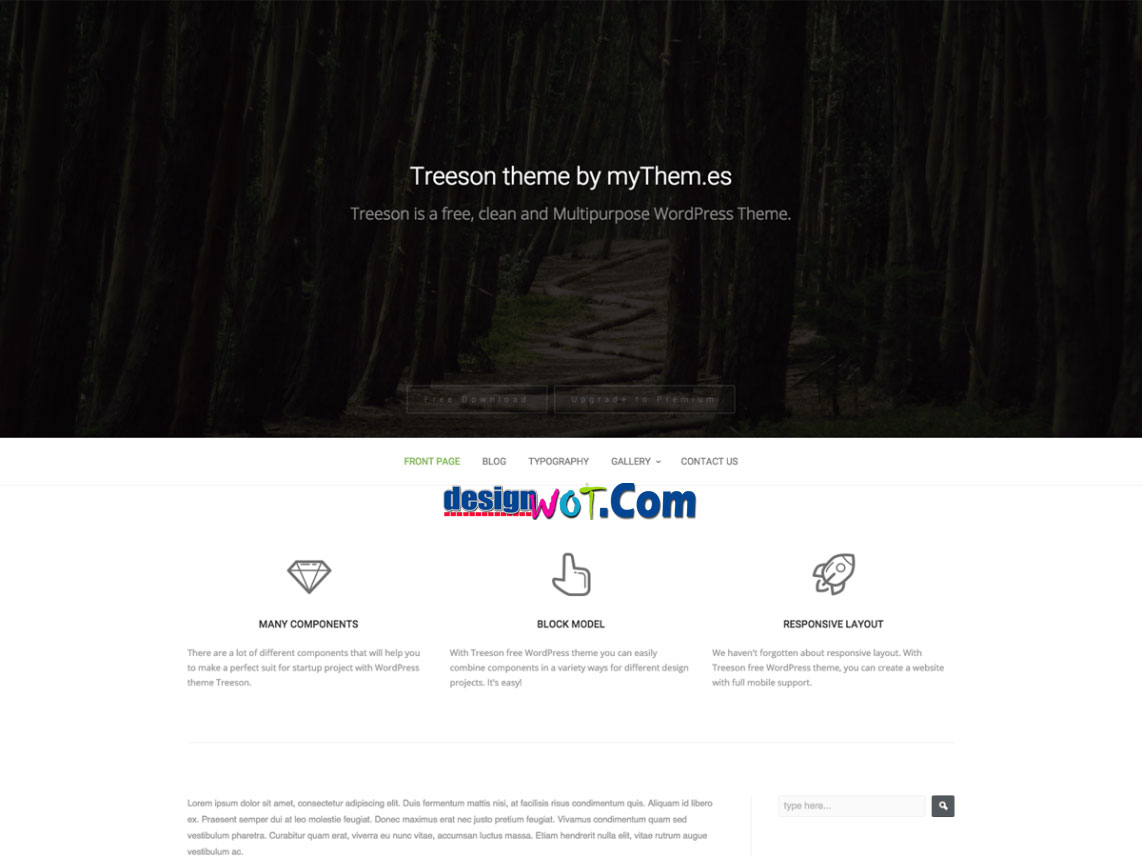 TREESON WordPress Responive Theme