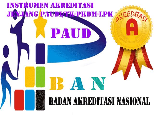 Download Instrumen Akreditasi pada jenjang PAUD/TK, PKBM, BLK