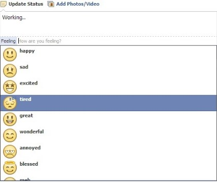 how to add emoticons on facebook wall post