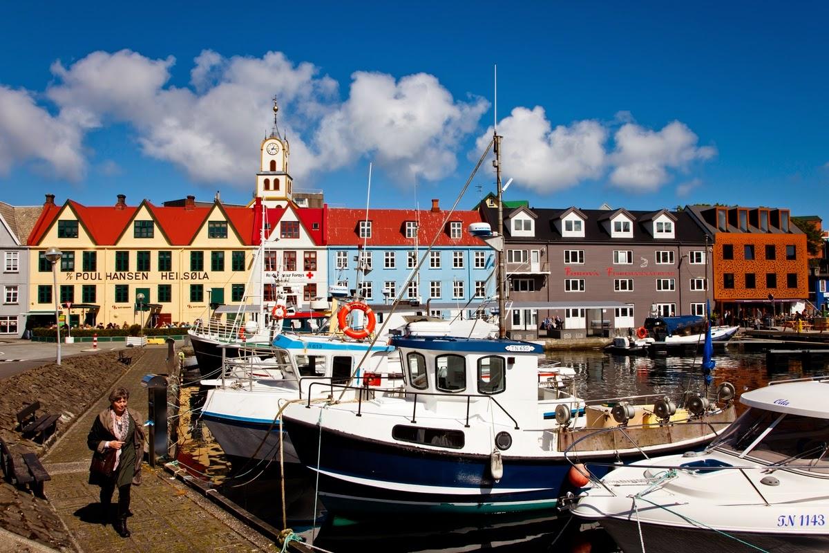 Isole Faroe, porto a Torshavn