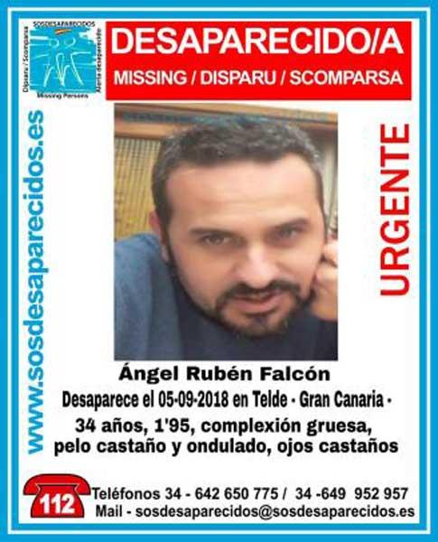 Ángel Rubén Falcón, hombre desaparecido en Telde, Gran Canaria