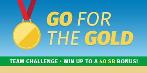 Image: Swagbucks invites you to participate in their Go for the Gold Team Challenge title=