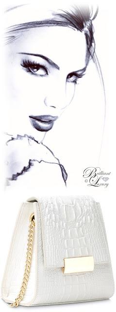 Brilliant Luxury ♦ Boudoir des Lubies Paris ~ Capucine Croco Bag #white