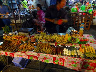 street food for dinner in Chinatown