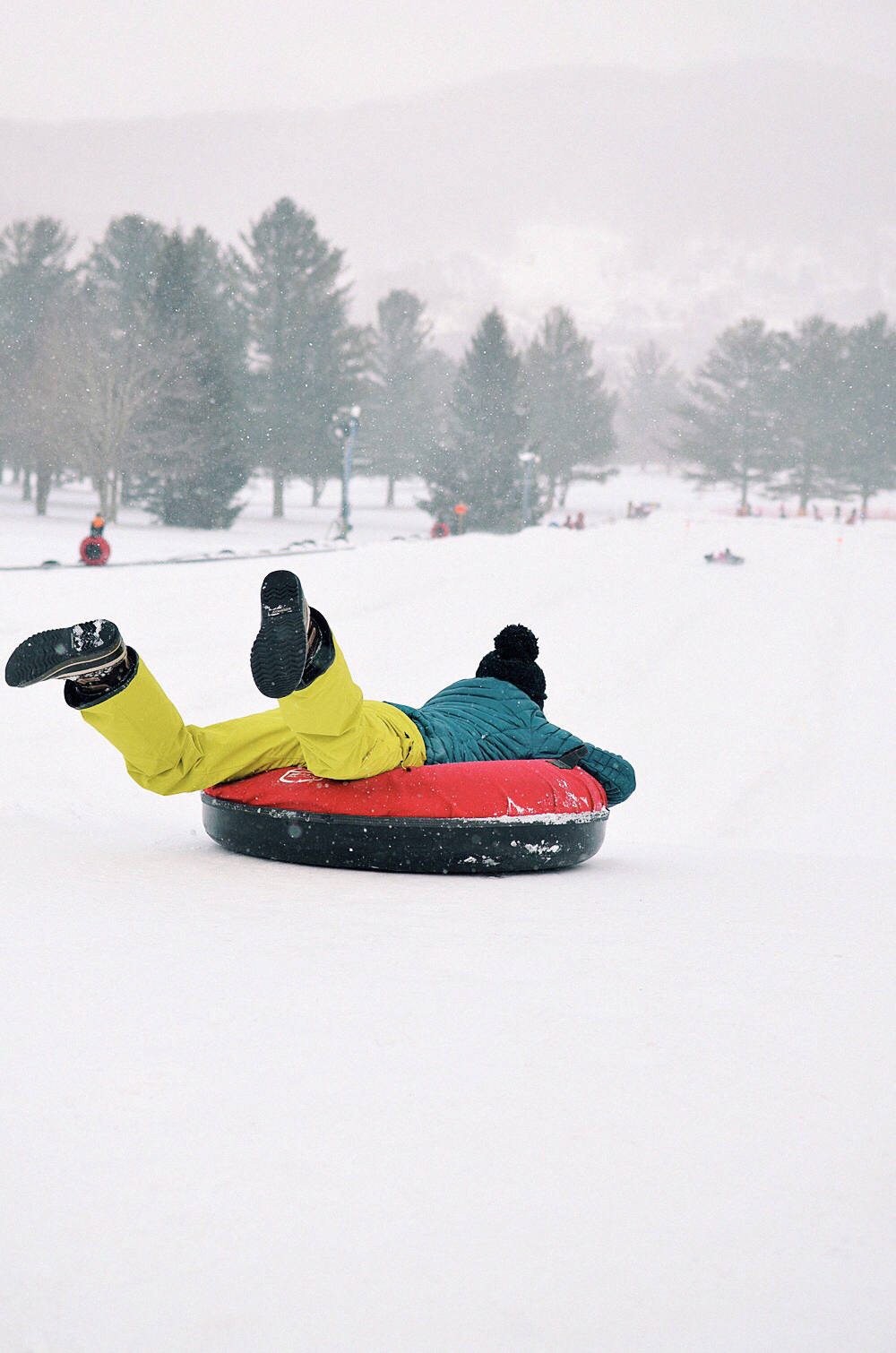 Snow tubing in North Carolina