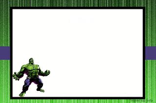Para hacer invitaciones, tarjetas, marcos de fotos o etiquetas, para imprimir gratis de Fiesta del Increíble Hulk.