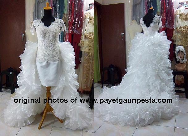 Model+gaun+pengantin+ekor+copot+full+rimpel+organza