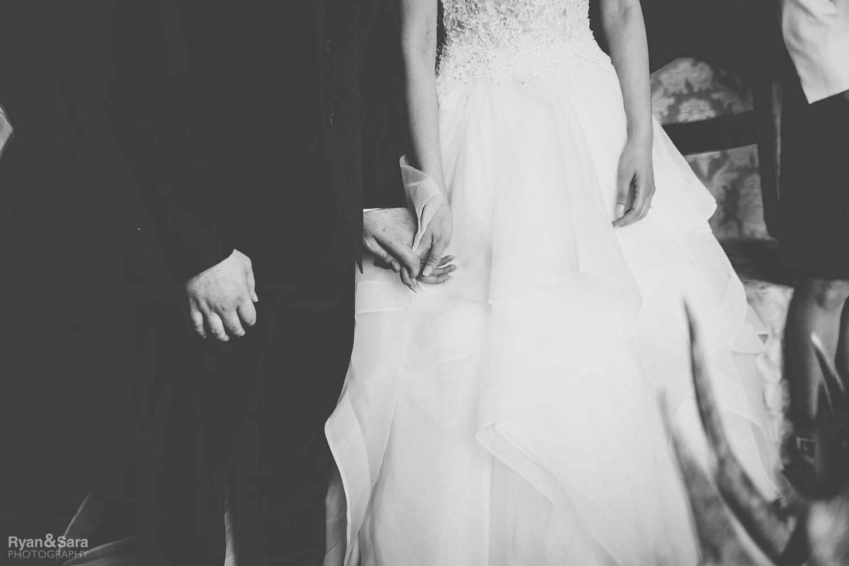 wedding ceremony, aisle, bridal couple
