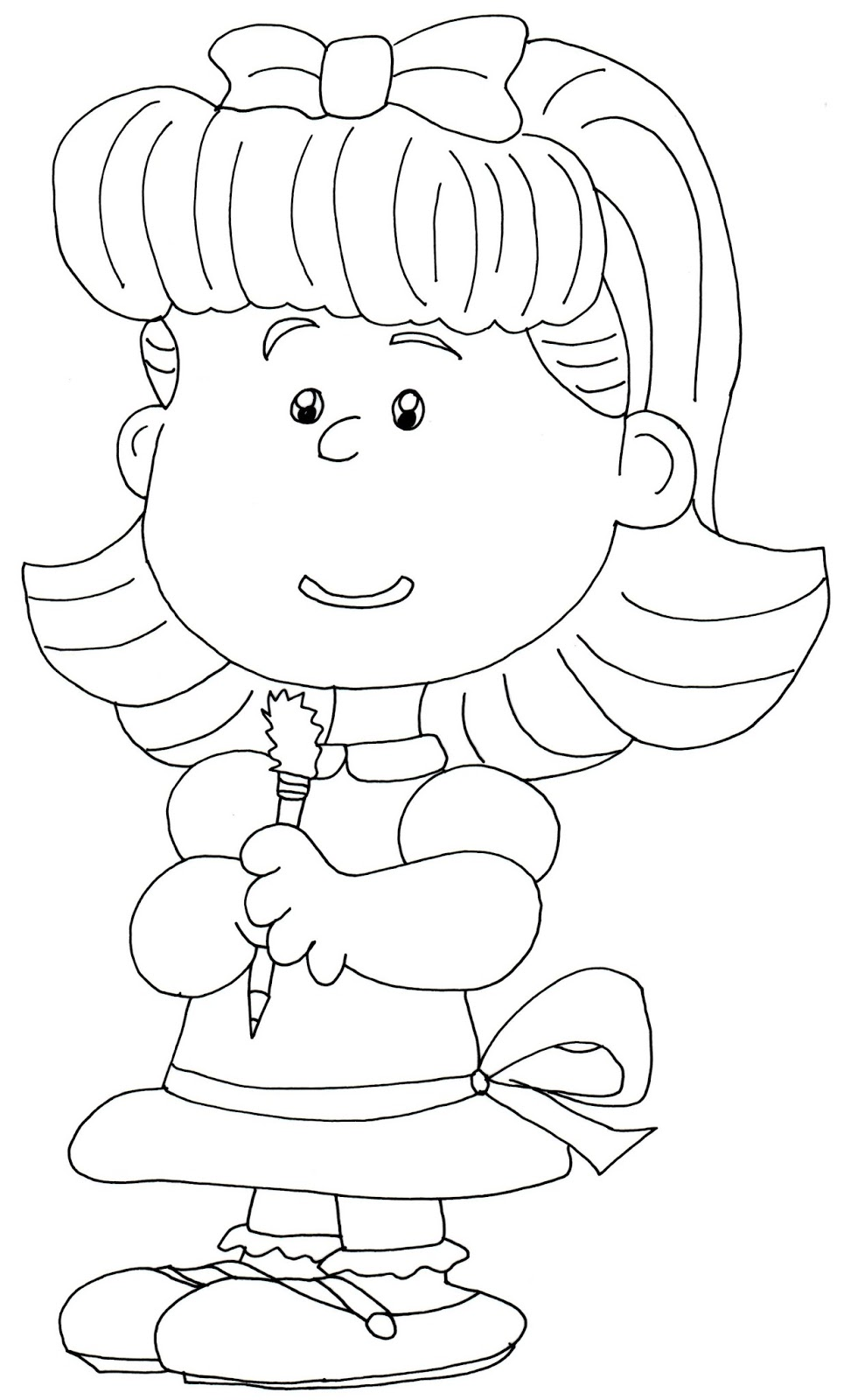 Little Girl Coloring Pages