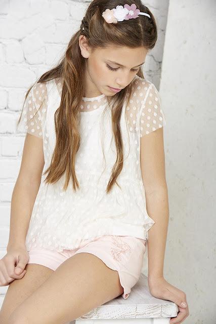 Blusas para niña moda primavera verano 2018.