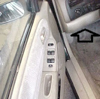 Open the auto door, on the left side of the wheel is the pull lever, pull forward