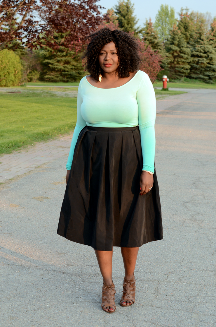 424 FIFTH midi skirt  My Curves And Curls