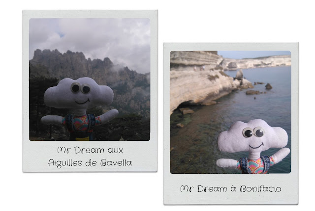 Mr Dream devant les aiguilles de Bavella et à Bonifacio