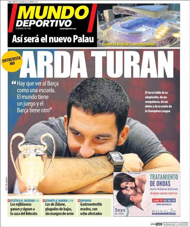 Portada del periódico Mundo Deportivo, miércoles 2 de marzo de 2016