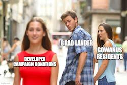 Brad Lander's Damning Developer Donations