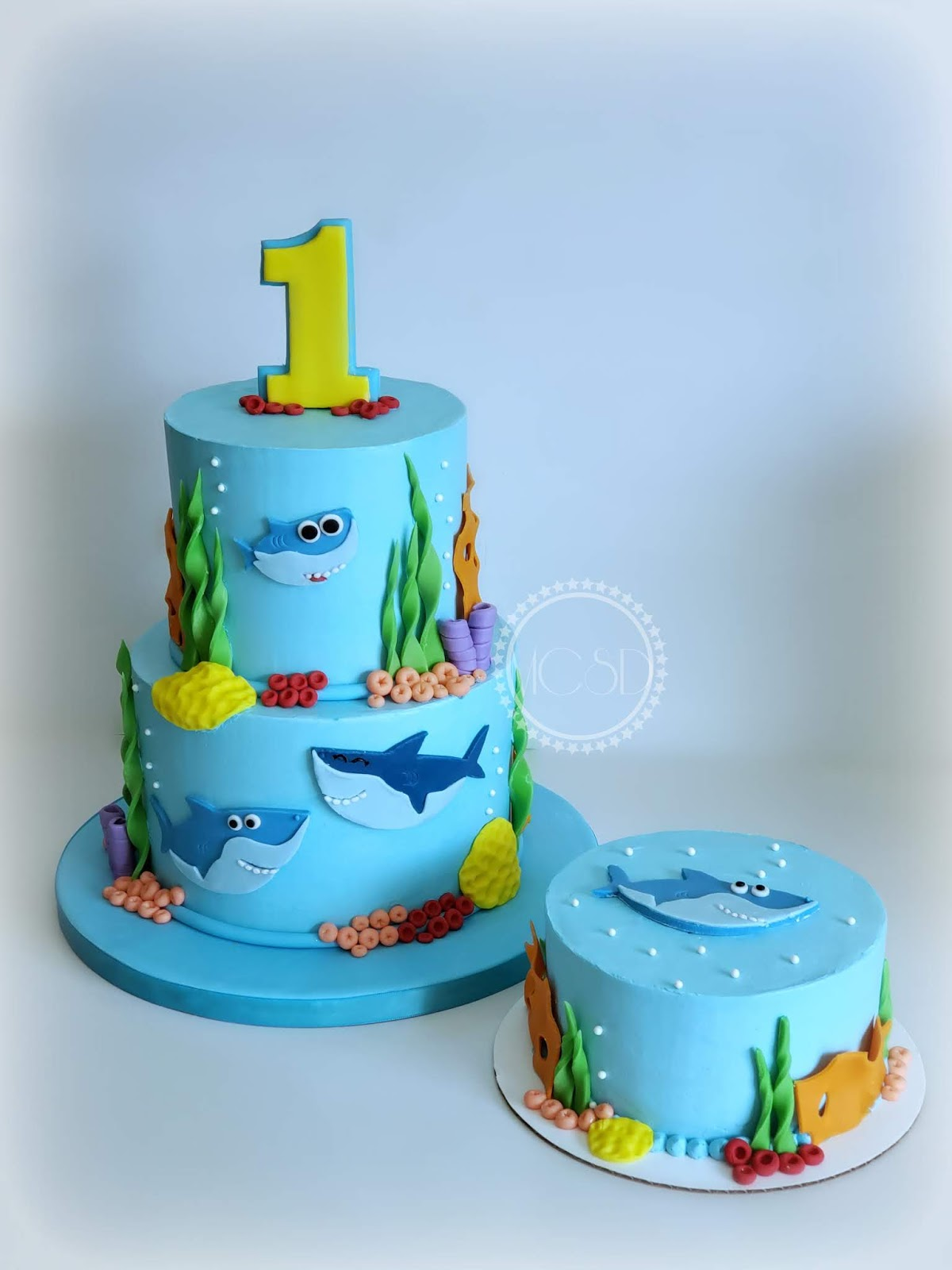 Magnificent Cakesbyzana Baby Shark 1St Birthday Cake Personalised Birthday Cards Sponlily Jamesorg