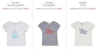camisetas para nina de Roxy