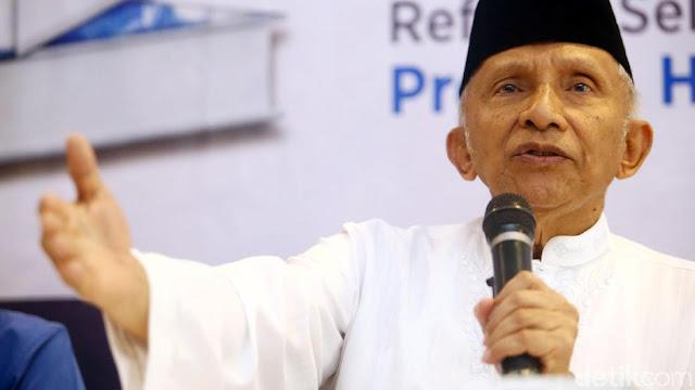 Revisi Visi-Misi Prabowo-Sandi Ditolak, Amien Rais: KPU Jangan Sok Kuasa